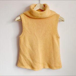 90s esprit pastel orange sleeveless high neck top